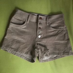 Women's Express Brown Faux Suede Shorts. Size 0.